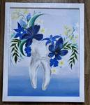 """Картина """"Зуб в цветах"""""""